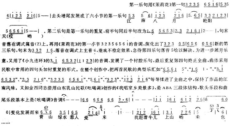 如商易同志创作的舞剧《小刀会》插曲《花香鼓舞》,就是直接引用江苏