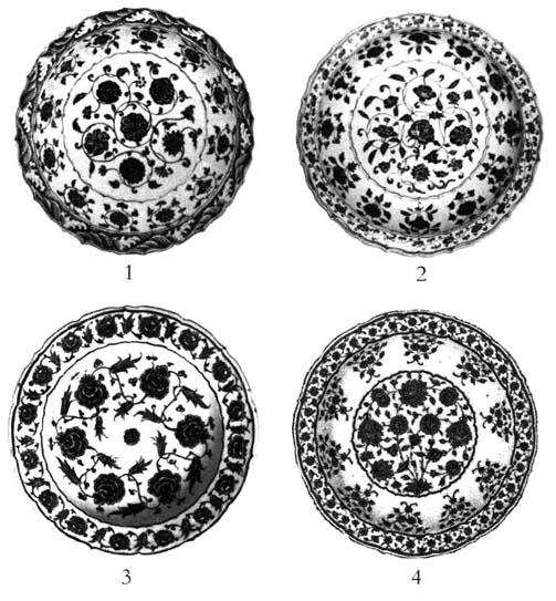 缠枝花纹是中国传统纹饰之一,以植物的枝杆或蔓藤作二方连续或四方